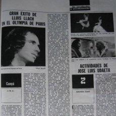 Coleccionismo de Revista Destino: PPRLY - GRAN EXITO DE LLUIS LLACH EN EL OLYMPIA DE PARIS. DOS ROSTROS DE JUAN BENET. VER SUMARIO.. Lote 83057076
