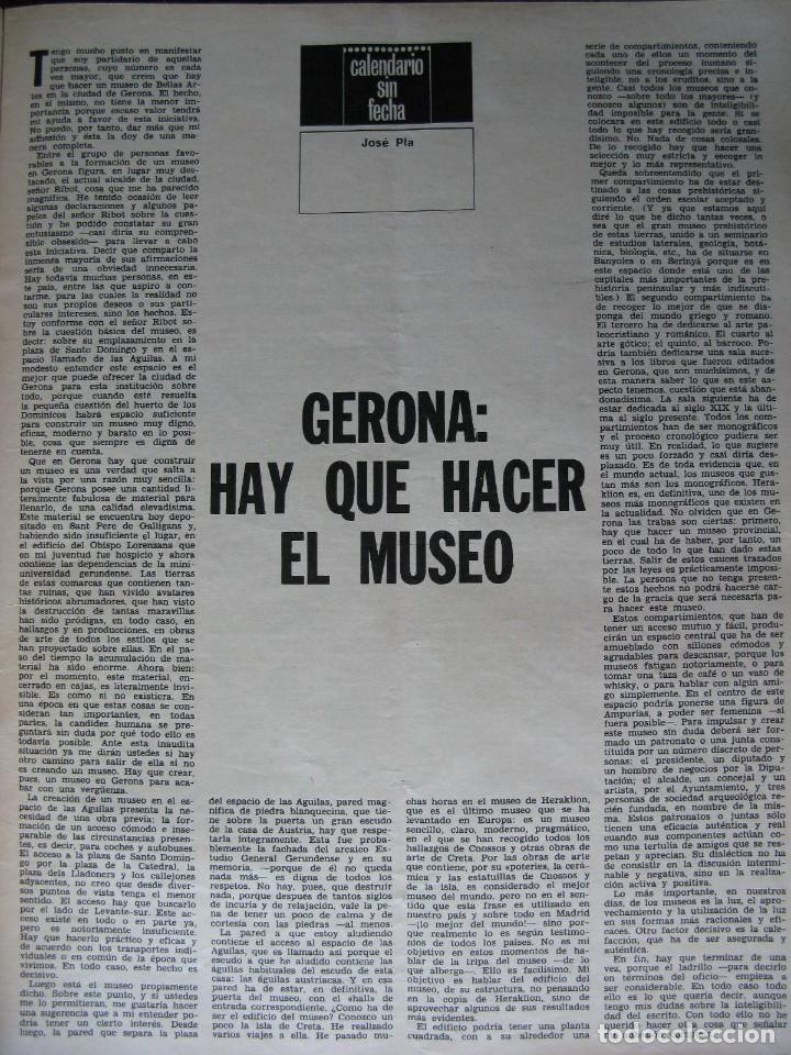 Coleccionismo de Revista Destino: PPRLY - Museo arte contemporáneo de Barcelona.Museo para Gerona . Ver sumario. - Foto 5 - 83101900