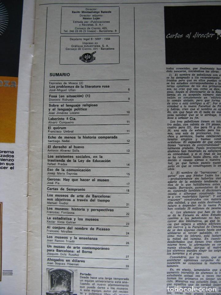 Coleccionismo de Revista Destino: PPRLY - Museo arte contemporáneo de Barcelona.Museo para Gerona . Ver sumario. - Foto 8 - 83101900