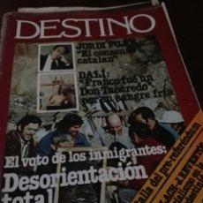 Coleccionismo de Revista Destino: REVISTA DESTINO 2044 / 1976 / JORDI PUJOL / DALI / EL VOTO DE LOS INMIGRANTES / 45. Lote 83522940