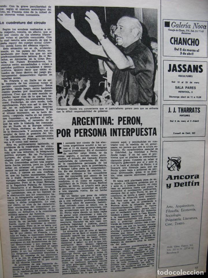 Coleccionismo de Revista Destino: PPRLY - NEWMARKET: CUNA DEL PURA SANGRE. HABLA EL CINE ESPAÑOL: CARLOS SAURA. VER SUMARIO. - Foto 4 - 85451424