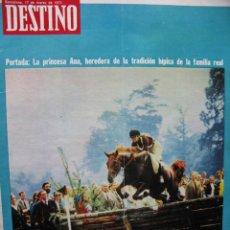 Coleccionismo de Revista Destino: PPRLY - NEWMARKET: CUNA DEL PURA SANGRE. HABLA EL CINE ESPAÑOL: CARLOS SAURA. VER SUMARIO.. Lote 85451424