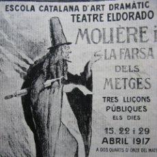 Coleccionismo de Revista Destino: PPRLY - EN EL III CENTENARIO DE MOLIERE. LA CERÁMICA DE LA BISBAL. VER SUMARIO.. Lote 85453352