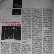 Coleccionismo de Revista Destino: PPRLY - LA FORD EN ESPAÑA. UN FORD MODELO -T- DEL AÑO 1908. ELS JOGLARS Y MARY D'OUS. VER SUMARIO.. Lote 85459052