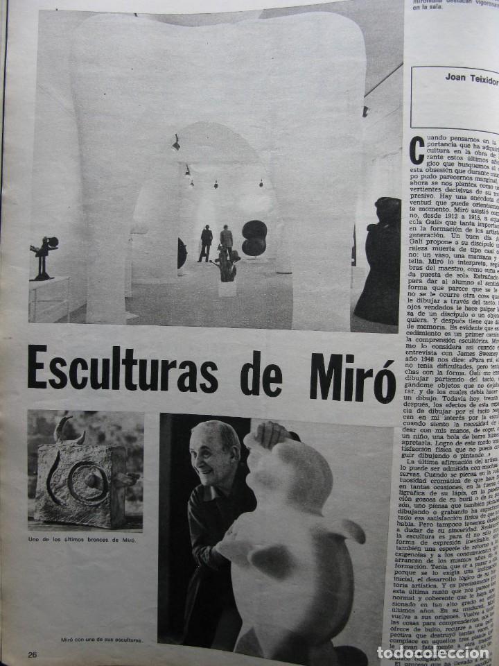 Coleccionismo de Revista Destino: PPRLY - JOAN MIRÓ: 80 AÑOS. LA COLECCIÓN JOAN PRATS. VER SUMARIO. - Foto 6 - 85882512