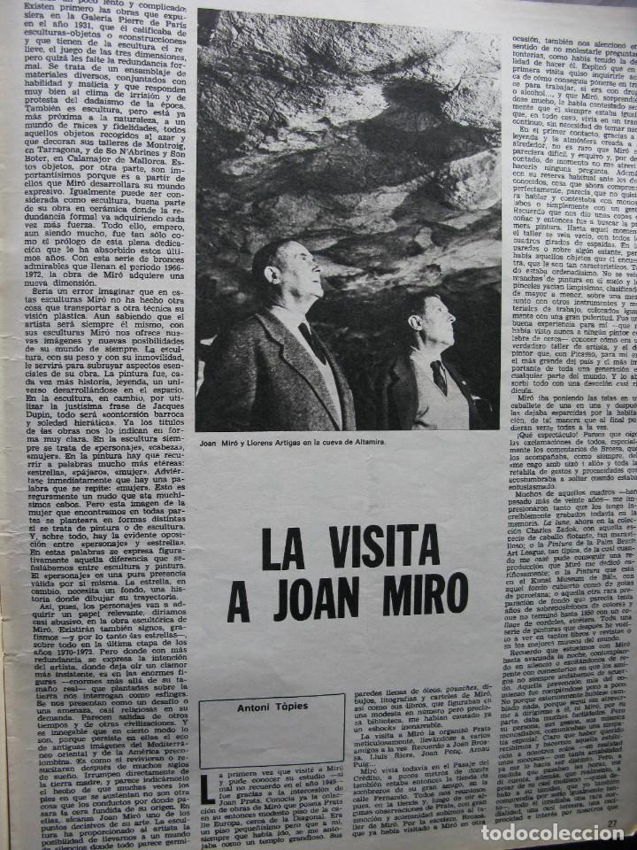 Coleccionismo de Revista Destino: PPRLY - JOAN MIRÓ: 80 AÑOS. LA COLECCIÓN JOAN PRATS. VER SUMARIO. - Foto 7 - 85882512
