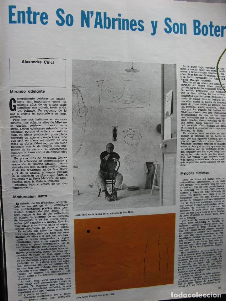 Coleccionismo de Revista Destino: PPRLY - JOAN MIRÓ: 80 AÑOS. LA COLECCIÓN JOAN PRATS. VER SUMARIO. - Foto 9 - 85882512