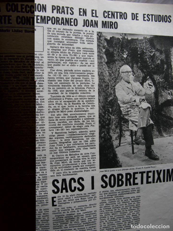 Coleccionismo de Revista Destino: PPRLY - JOAN MIRÓ: 80 AÑOS. LA COLECCIÓN JOAN PRATS. VER SUMARIO. - Foto 12 - 85882512