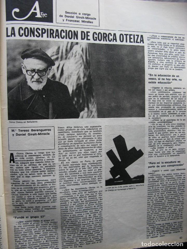 Coleccionismo de Revista Destino: PPRLY - JOAN MIRÓ: 80 AÑOS. LA COLECCIÓN JOAN PRATS. VER SUMARIO. - Foto 13 - 85882512