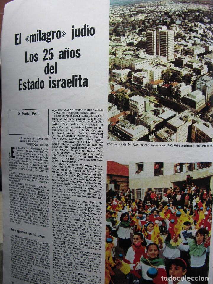 Coleccionismo de Revista Destino: PPRLY - 25 ANIVERSARIO DE LA FUNDACIÓN DE ISRAEL. CARTAS DE SEMPRONIO. VER SUMARIO. - Foto 2 - 85890732
