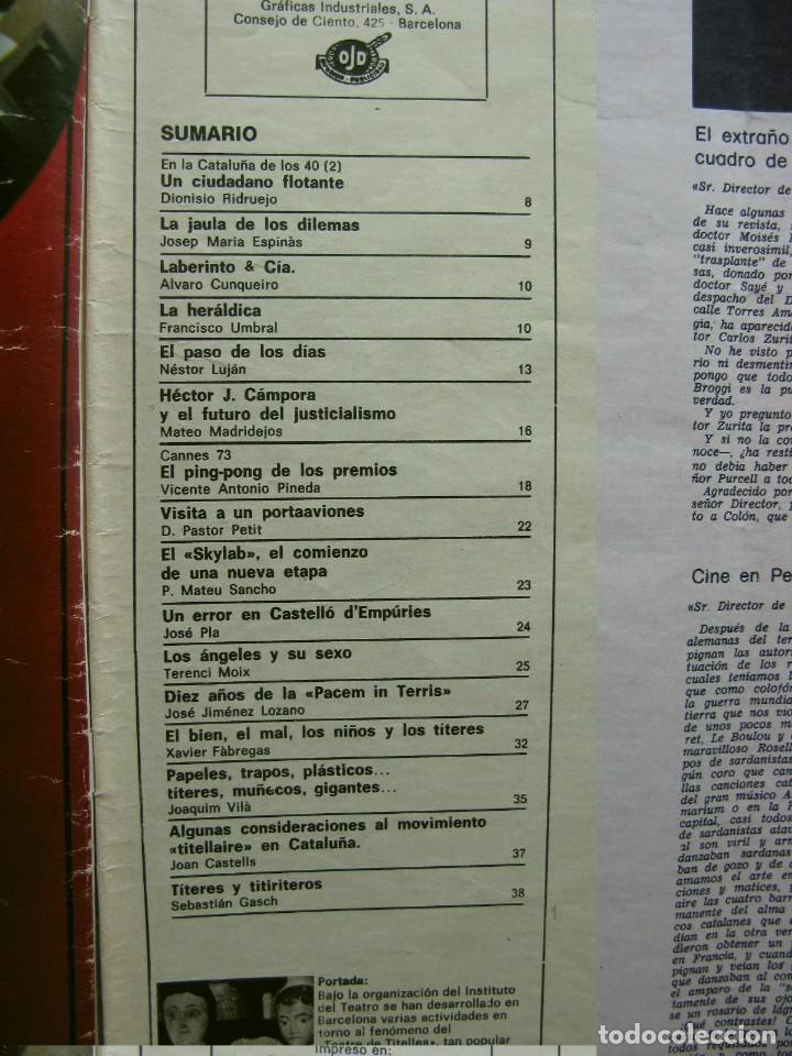 Coleccionismo de Revista Destino: PPRLY - FESTIVAL DE TITELLES JOAN CASTELL. VER SUMARIO. - Foto 3 - 87484128