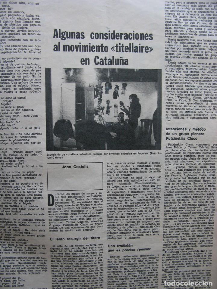 Coleccionismo de Revista Destino: PPRLY - FESTIVAL DE TITELLES JOAN CASTELL. VER SUMARIO. - Foto 4 - 87484128