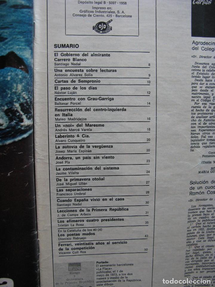 Coleccionismo de Revista Destino: PPRLY - RIESGO Y DESVENTURA DE LA PRIMERA REPÚBLICA. VER SUMARIO. - Foto 2 - 87485948