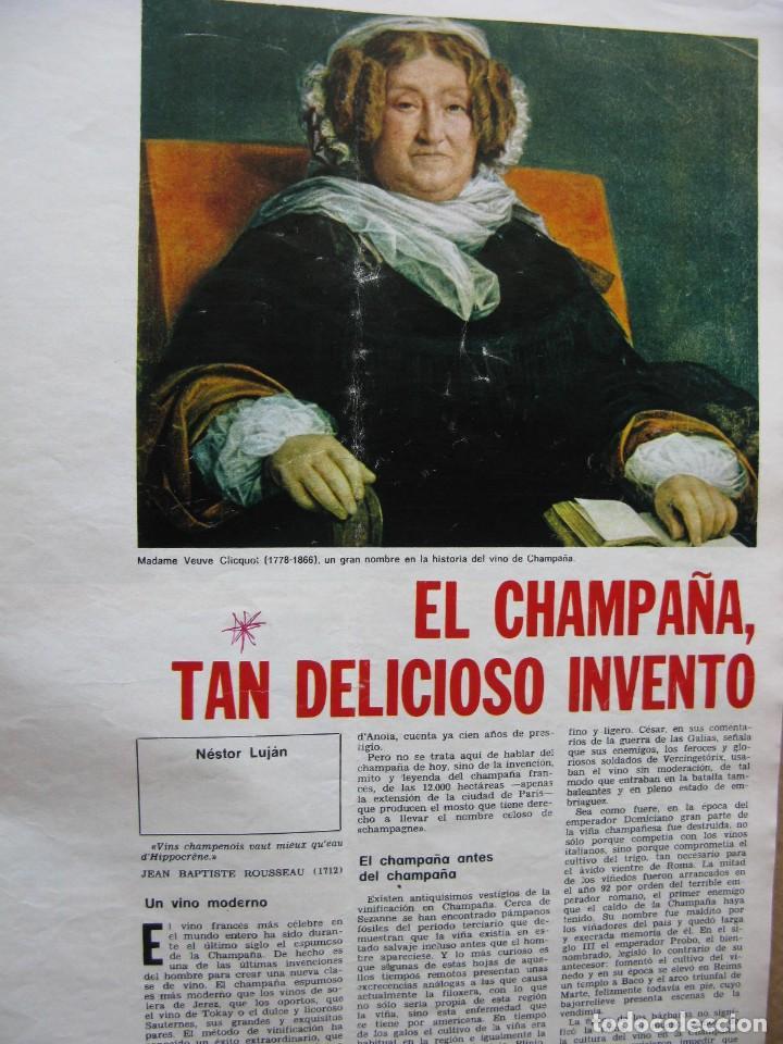 Coleccionismo de Revista Destino: PPRLY - EL CHAMPAÑA, TAN DELICIOSO INVENTO, NESTOR LUJÁN. VER SUMARIO. - Foto 2 - 87486348