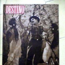 Coleccionismo de Revista Destino: DESTINO Nº 400 1945 NUMERO DEDICADO A LA CINEMATOGRAFIA. EN PORTADA CHARLES CHAPLIN. Lote 89280456