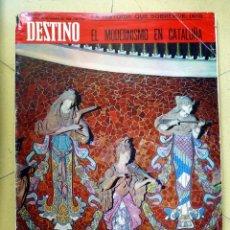 Coleccionismo de Revista Destino: REVISTA DESTINO 25 OCTUBRE 1969 EL MODERNISMO EN CATALUNYA. Lote 89282236