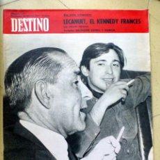 Coleccionismo de Revista Destino: DESTINO Nº 1541 19 FEBRERO 1967 LECANUET, EL KENNEDY FRANCES. Lote 89283092