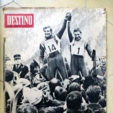 Coleccionismo de Revista Destino: DESTINO Nº 1585 17 FEBRERO 1969 JUEGOS OLIMPICOS DE INVIERNO. Lote 89283364