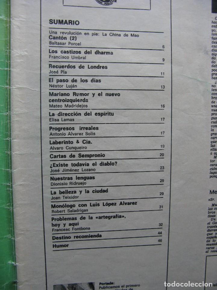 Coleccionismo de Revista Destino: PPRLY - MONÓLOGO CON LUIS LÓPEZ ALVAREZ. PROBLEMAS DE LA ARTEGRAFÍA HOY Y AQUÍ. VER SUMARIO. - Foto 7 - 89638728
