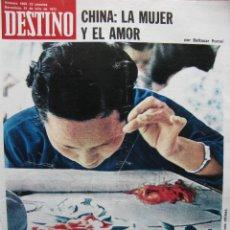 Coleccionismo de Revista Destino: PPRLY - LA CHINA DE MAO. CHINA LA MUJER Y EL AMOR. RACHMANINOFF. VER SUMARIO.. Lote 89639252