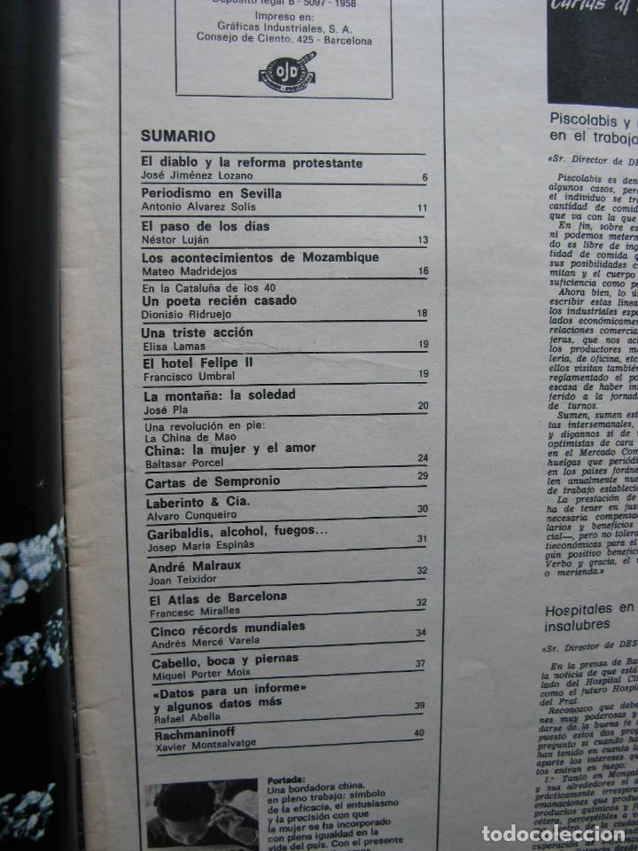 Coleccionismo de Revista Destino: PPRLY - LA CHINA DE MAO. CHINA LA MUJER Y EL AMOR. RACHMANINOFF. VER SUMARIO. - Foto 7 - 89639252