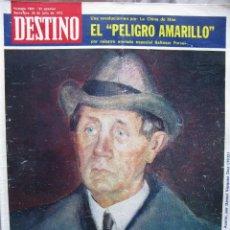 Coleccionismo de Revista Destino: PPRLY - EN EL CENTENARIO DE AZORÍN. CADAQUÉS PORTAFOLIO ONE. LLUIS LLACH A L'OLYMPIA. VER SUMARIO.. Lote 89640084