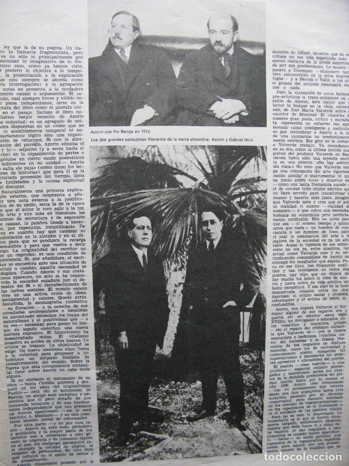 Coleccionismo de Revista Destino: PPRLY - EN EL CENTENARIO DE AZORÍN. CADAQUÉS PORTAFOLIO ONE. LLUIS LLACH A LOLYMPIA. VER SUMARIO. - Foto 2 - 89640084