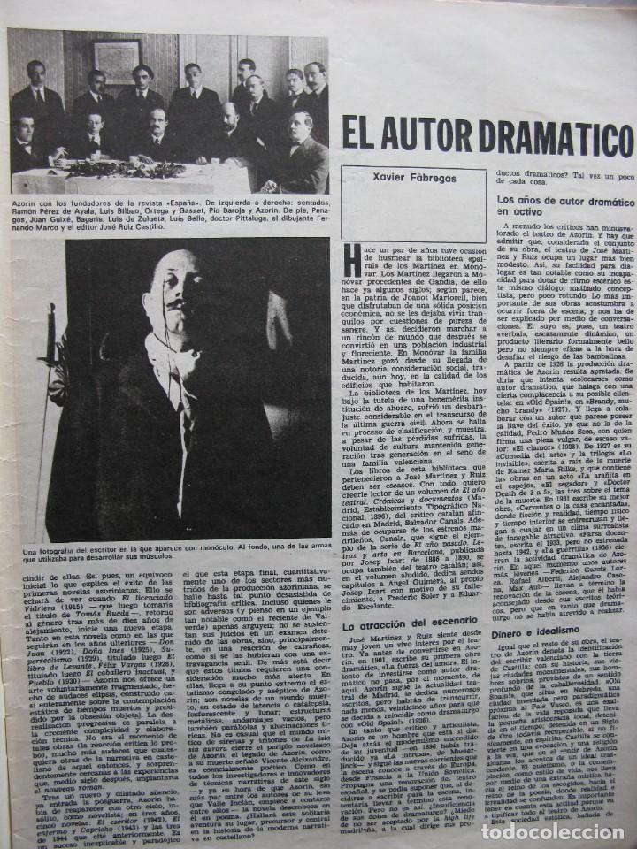 Coleccionismo de Revista Destino: PPRLY - EN EL CENTENARIO DE AZORÍN. CADAQUÉS PORTAFOLIO ONE. LLUIS LLACH A LOLYMPIA. VER SUMARIO. - Foto 3 - 89640084