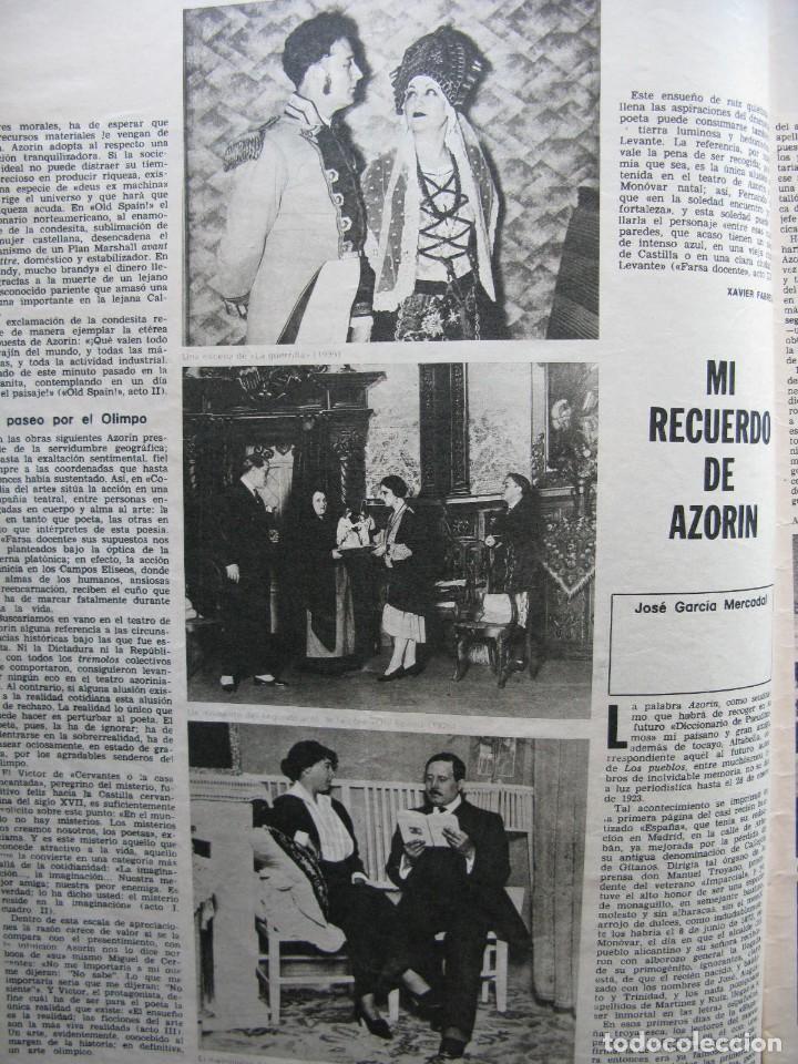 Coleccionismo de Revista Destino: PPRLY - EN EL CENTENARIO DE AZORÍN. CADAQUÉS PORTAFOLIO ONE. LLUIS LLACH A LOLYMPIA. VER SUMARIO. - Foto 4 - 89640084