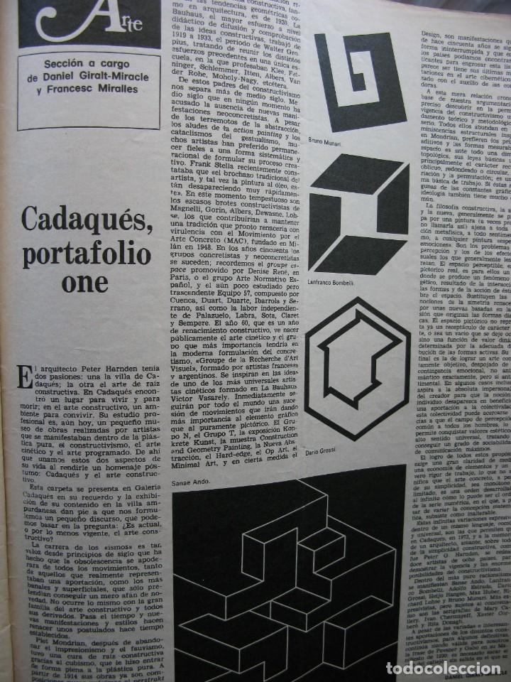Coleccionismo de Revista Destino: PPRLY - EN EL CENTENARIO DE AZORÍN. CADAQUÉS PORTAFOLIO ONE. LLUIS LLACH A LOLYMPIA. VER SUMARIO. - Foto 5 - 89640084