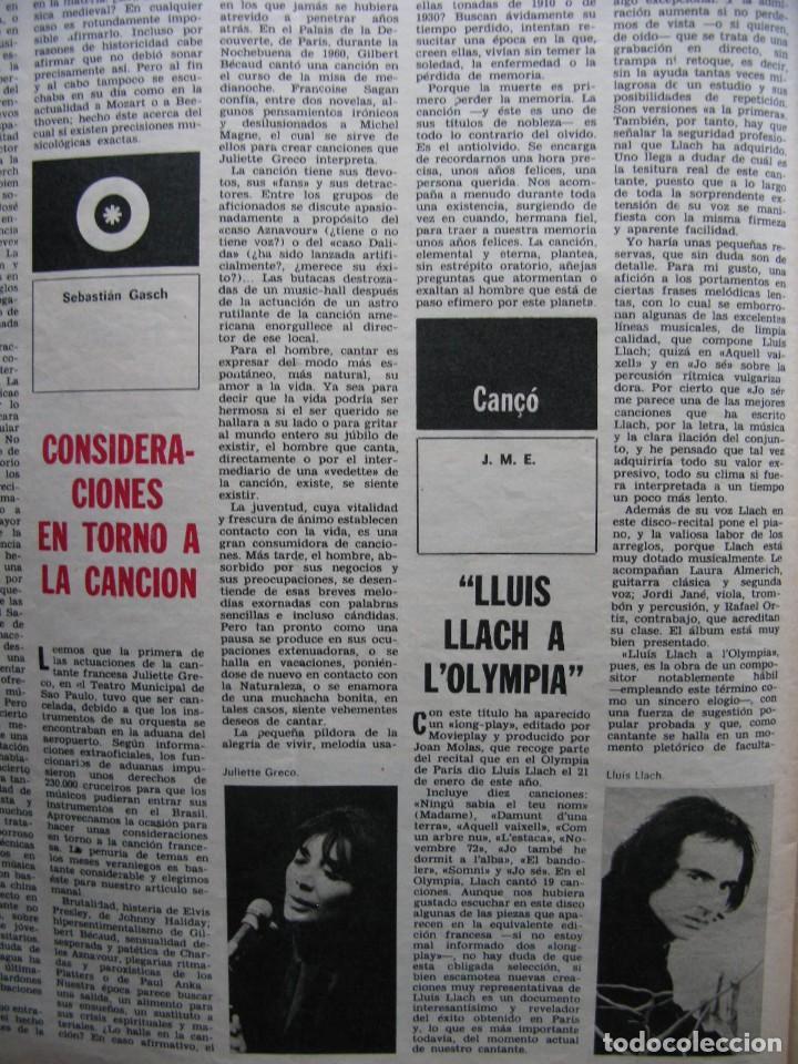 Coleccionismo de Revista Destino: PPRLY - EN EL CENTENARIO DE AZORÍN. CADAQUÉS PORTAFOLIO ONE. LLUIS LLACH A LOLYMPIA. VER SUMARIO. - Foto 6 - 89640084