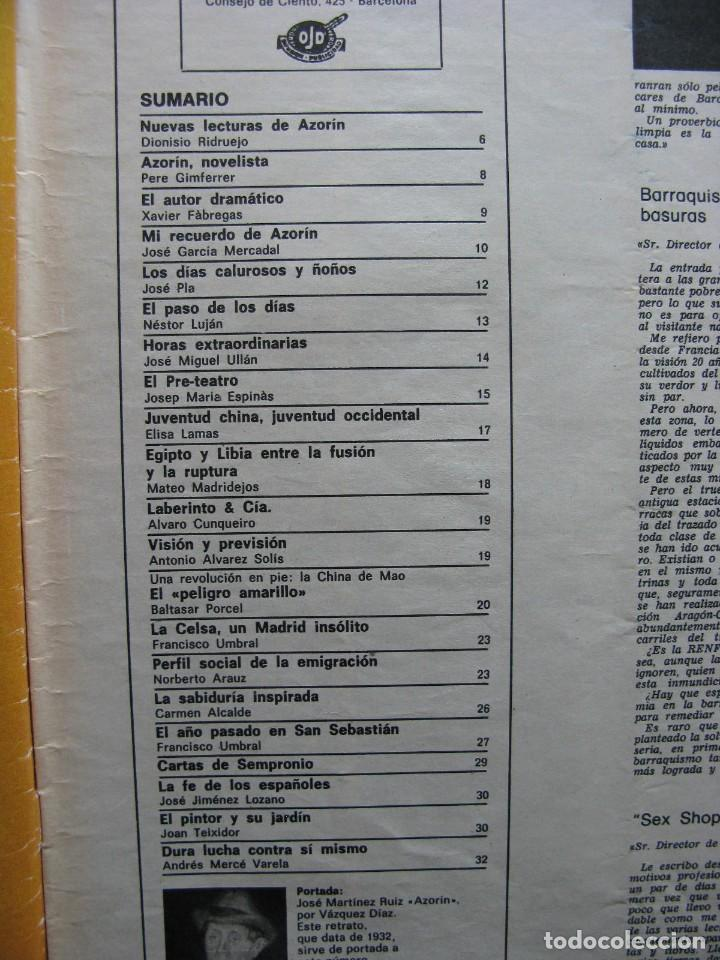 Coleccionismo de Revista Destino: PPRLY - EN EL CENTENARIO DE AZORÍN. CADAQUÉS PORTAFOLIO ONE. LLUIS LLACH A LOLYMPIA. VER SUMARIO. - Foto 8 - 89640084