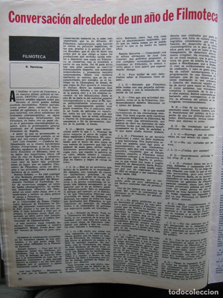 Coleccionismo de Revista Destino: PPRLY - EL ÚLTIMO TANGO DE HERR GOETHE. LITERATURA CATALANA CONTEMPORÀNIA. VER SUMARIO. - Foto 6 - 89641148