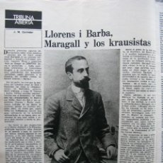 Coleccionismo de Revista Destino: PPRLY - LLORENS I BARBA, MARAGALL Y LOS KAUSISTAS. PERE VERGÉS Y LA ESCOLA DEL MAR. VER SUMARIO.. Lote 89642100