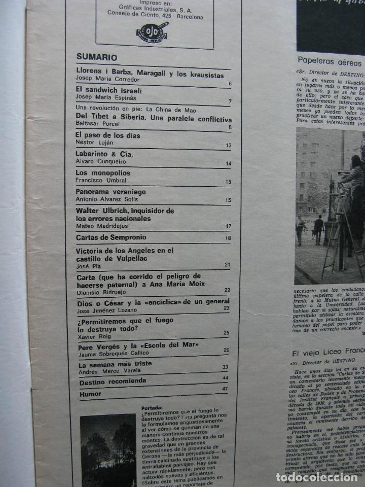 Coleccionismo de Revista Destino: PPRLY - LLORENS I BARBA, MARAGALL Y LOS KRAUSISTAS. PERE VERGÉS Y LA ESCOLA DEL MAR. VER SUMARIO. - Foto 5 - 89642100