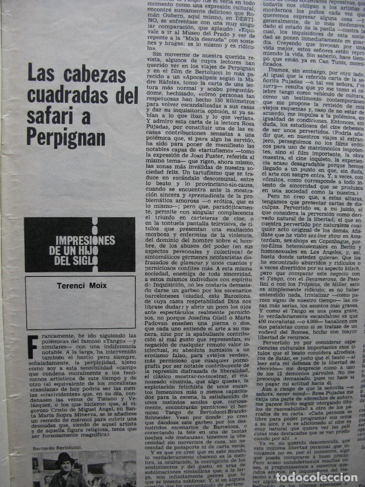 PPRLY - SAFARI A PERPIGNAN, TERENCE MOIX. MONÓLOGO DE MERCÉ RODODERA. VER SUMARIO. (Coleccionismo - Revistas y Periódicos Modernos (a partir de 1.940) - Revista Destino)