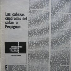 Coleccionismo de Revista Destino: PPRLY - SAFARI A PERPIGNAN, TERENCE MOIX. MONÓLOGO DE MERCÉ RODODERA. VER SUMARIO.. Lote 89644600