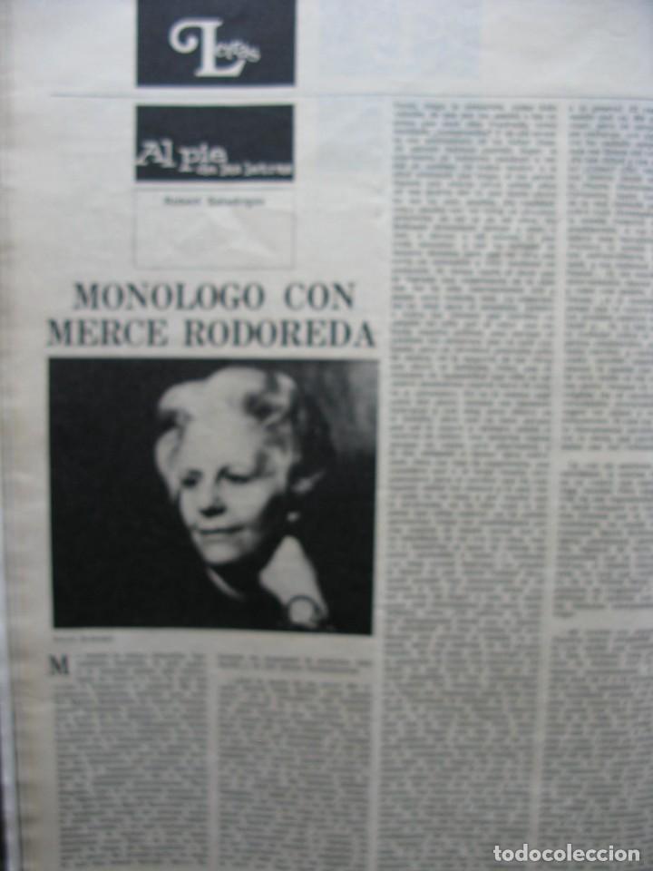 Coleccionismo de Revista Destino: PPRLY - SAFARI A PERPIGNAN, TERENCE MOIX. MONÓLOGO DE MERCÉ RODODERA. VER SUMARIO. - Foto 2 - 89644600