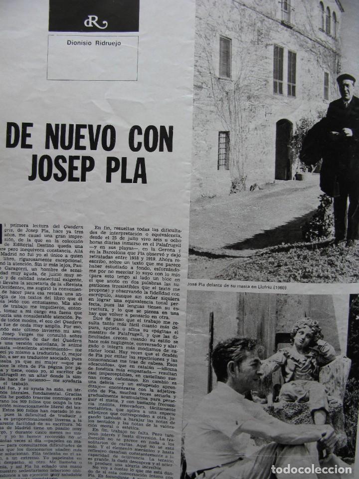 Coleccionismo de Revista Destino: PPRLY - SAFARI A PERPIGNAN, TERENCE MOIX. MONÓLOGO DE MERCÉ RODODERA. VER SUMARIO. - Foto 4 - 89644600