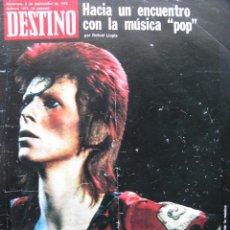 Coleccionismo de Revista Destino: 1973 DAVID BOWIE. DESPEDIDA A ANTONIO MARICHALAR. VER SUMARIO.. Lote 89649492
