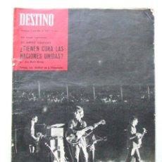 Coleccionismo de Revista Destino: REVISTA DESTINO 1457 JULIO 1965 BEATLES ESPAÑA BARCELONA VICENTE SCOTTO ROBERT RUARK . Lote 90201760