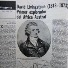 Coleccionismo de Revista Destino: PPRLY - DAVID LIVINGSTONE. LA UCE DE PRADA QUIERE SEGUIR EN INVIERNO POR XAVIER ROIG. VER SUMARIO.. Lote 91659235