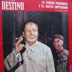 Coleccionismo de Revista Destino: PPRLY - XAVIER MONTSALVATGE - MAO TSE-TUNG - LIN PIAO. VER SUMARIO.. Lote 91662790