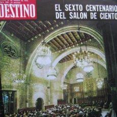 Coleccionismo de Revista Destino: PPRLY - FESTIVAL INTERNACIONAL DE MÚSICA EN EL SALÓN DE CIENTO 1973. VER SUMARIO.. Lote 91665540