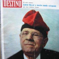 Coleccionismo de Revista Destino: PPRLY - EN PAU CASALS. GABRIEL MARCEL. INUNDACION PUERTO LUMBRERAS ALMERIA . VER SUMARIO.. Lote 91832095