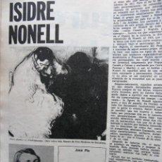 Coleccionismo de Revista Destino: PPRLY - EN EL CENTENARIO DE ISIDRE NONELL. UN VIRTUOSO MAX REINHARDT . VER SUMARIO.. Lote 91834405
