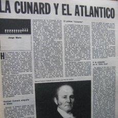 Coleccionismo de Revista Destino: PPRLY - LA CUNARD Y EL ATLÁNTICO - ANDRÉ NICOLAEV, EL GRAN PAYASO RUSO . VER SUMARIO.. Lote 91835405