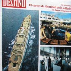 Coleccionismo de Revista Destino: PPRLY - EL HOTEL FLOTANTE QUEEN ELIZABETTH 2 - UN CUENTO DEL SR BOSCH D LA TRINXEIRA. VER SUMARIO.. Lote 91838455
