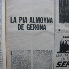 Coleccionismo de Revista Destino: PPRLY - LA PIA ALMOYNA DE GERONA - EL KOHOUTEK COMETA DE NAVIDAD. VER SUMARIO.. Lote 92058170