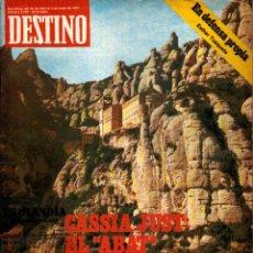 Collectionnisme de Magazine Destino: L32 REVISTA DESTINO EKL ABRIL 1979 ~ MONASTERIO DE MONTSERRAT EL ABAT DE LOS NUEVOS TIEMPOS Nº 2168. Lote 95330839
